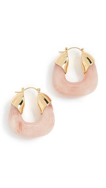 Lizzie Fortunato 粉色圈式耳环