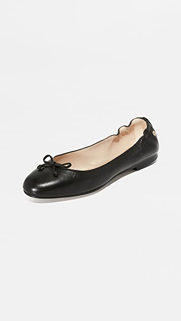 L.K. Bennett Patent Leather Round-Toe Flats