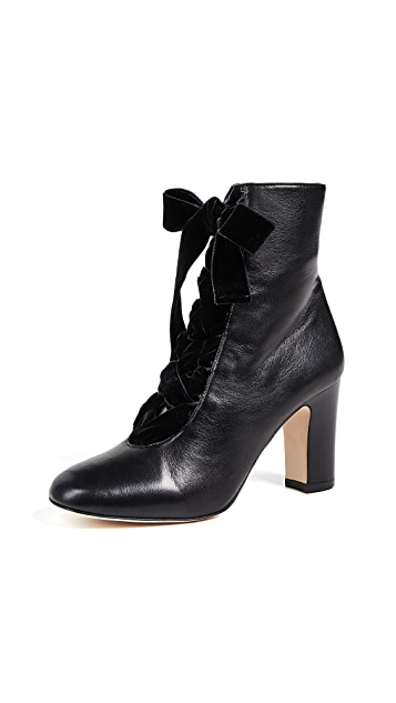 L.K. Bennett Maxine Lace Up Ankle Boots