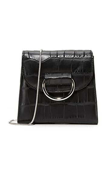 Little Liffner Tiny D Box Cross Body Bag - Black