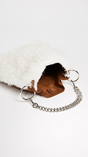 Little Liffner Candy Shearling Bag