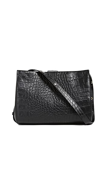 Little Liffner Croc Embossed Shopper Bag