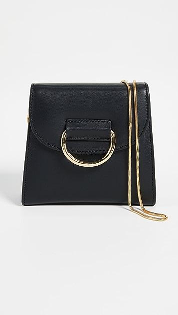 Little Liffner Tiny D Box Cross Body Bag - Black