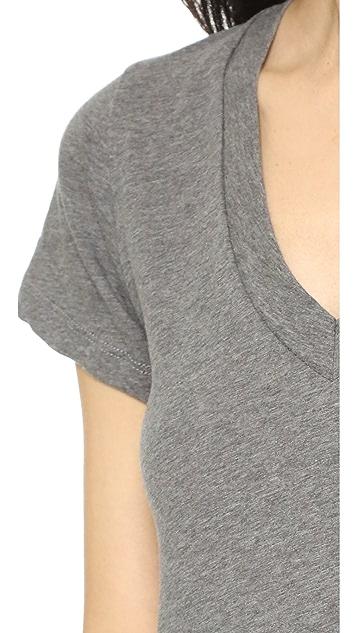 LNA Short Sleeve V Neck Tee