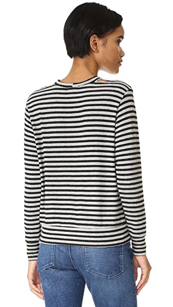 LNA Bolero Cutout Sweater