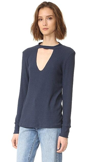 LNA Bardot Long Sleeve Sweater