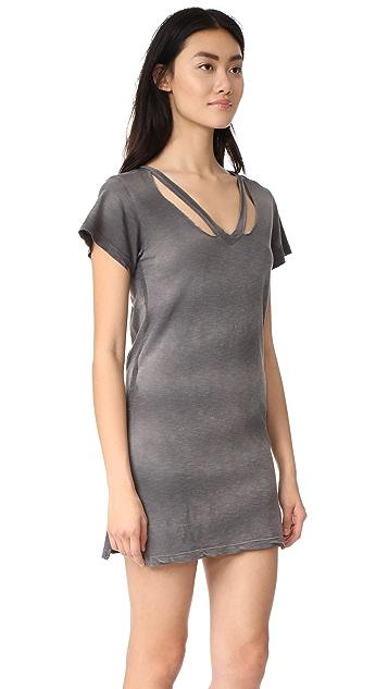 LNA Double Fallon Tee Dress