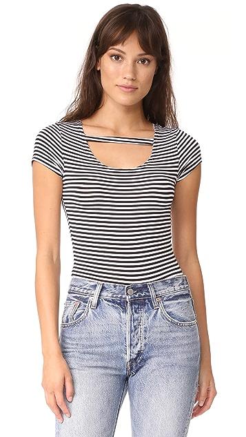 LNA Stripe Maya Tee Bodysuit