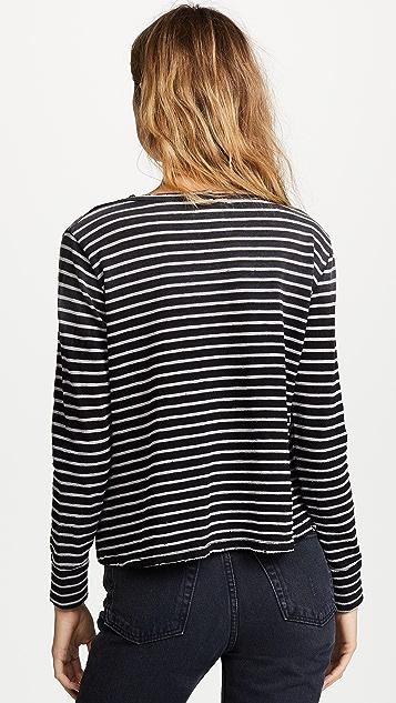 LNA Faded Stripe Long Sleeve Tee