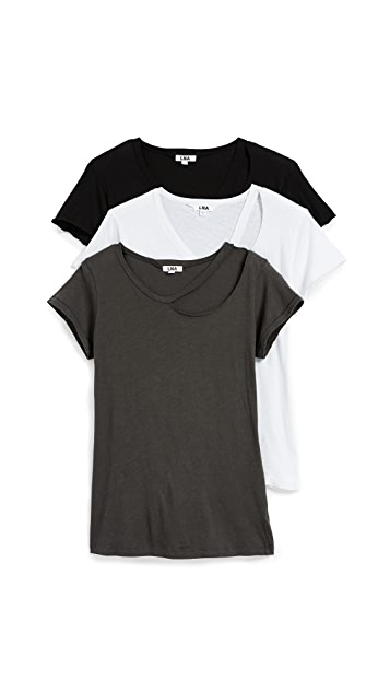 LNA The Signature Cut Out Tee 3 Pack