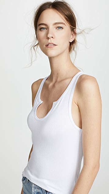 LNA U Ribbed Tank Top