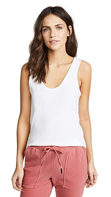 LNA Essential Cotton Tanner Scoop Tank