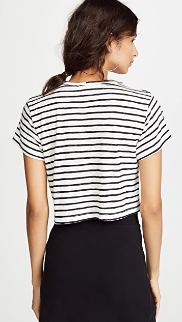 LNA Striped Cropped Boxy Tee