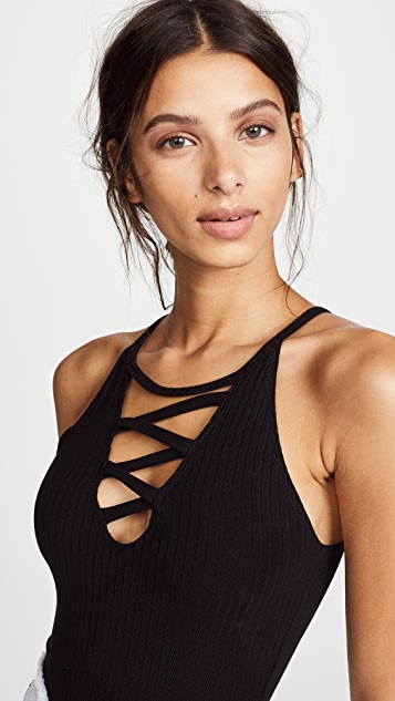 LNA Ora Ribbed Bodysuit