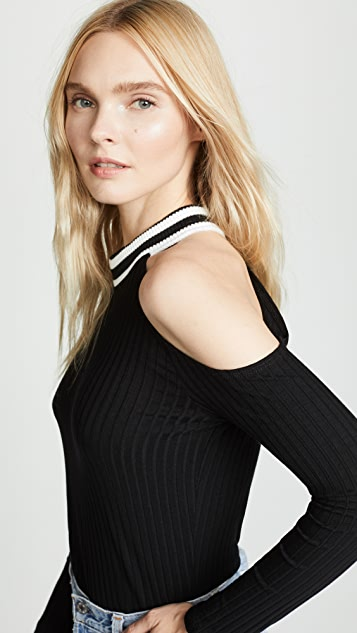 LNA Rosa Ribbed Top