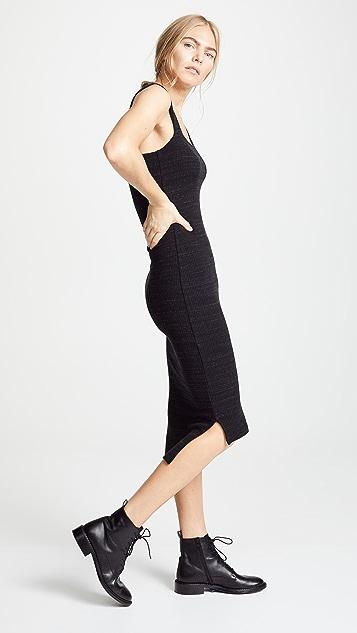 LNA Julia Ribbed Knit Dress