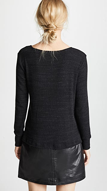LNA Kindred Ribbed Knit Sweater