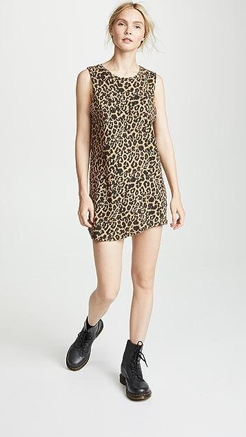 LNA Leopard Muscle Tank Dress