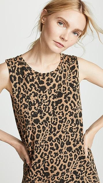 LNA Платье без рукавов с леопардовым принтом