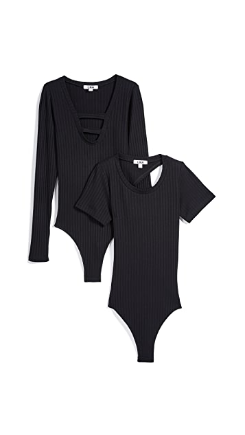 LNA Day To Night Bodysuit 2 Pack