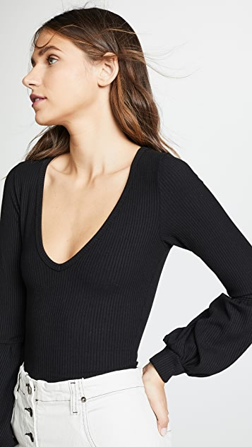 LNA Jewel Rib Bodysuit
