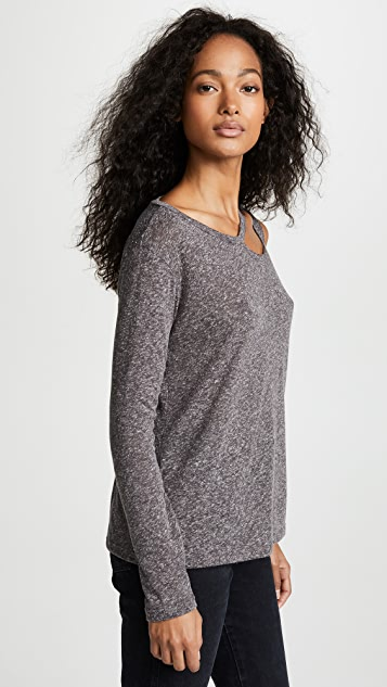 LNA Long Sleeve Slash Tee