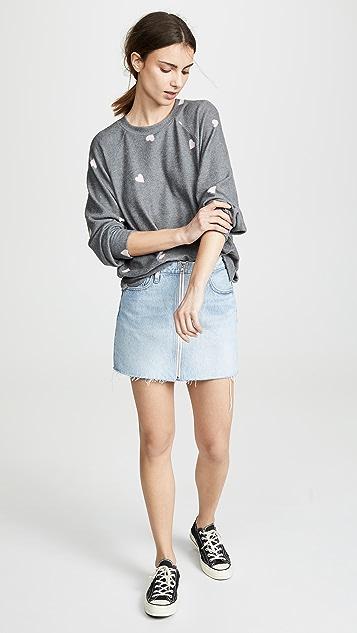 LNA Brushed Hearts Raglan Sweatshirt