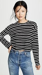 LNA Honey 条纹长袖 T 恤