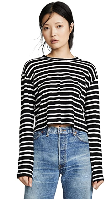LNA Honey Stripe Long Sleeve Tee