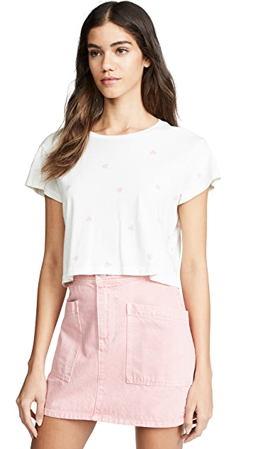 LNA Hearts Crop Tee