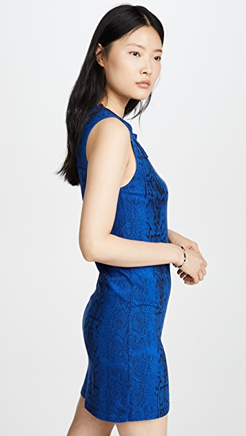 LNA 蛇纹双层剪裁背心式连衣裙