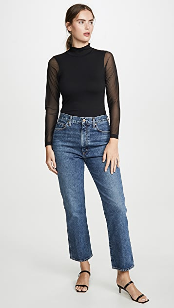 LNA Eves Mesh Turtleneck