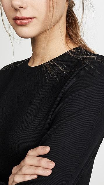 LNA Long Sleeve Ribbed Top