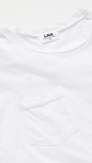 LNA Jay 毛边口袋 T 恤