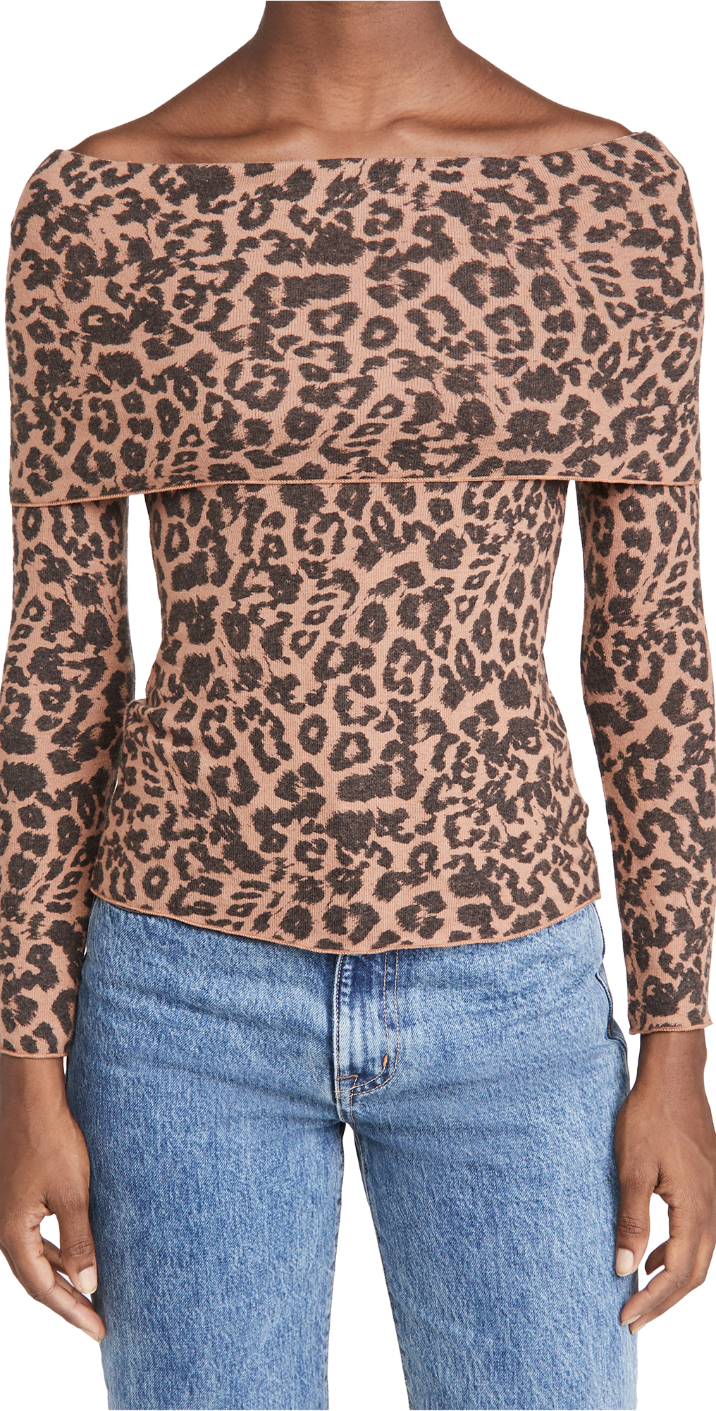 LNA Brushed Leopard Blake Sweater