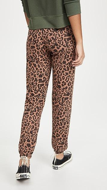 LNA Brushed Leopard Joggers