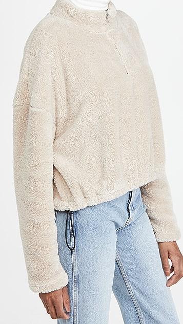 LNA Sherpa Half Zip Sweater
