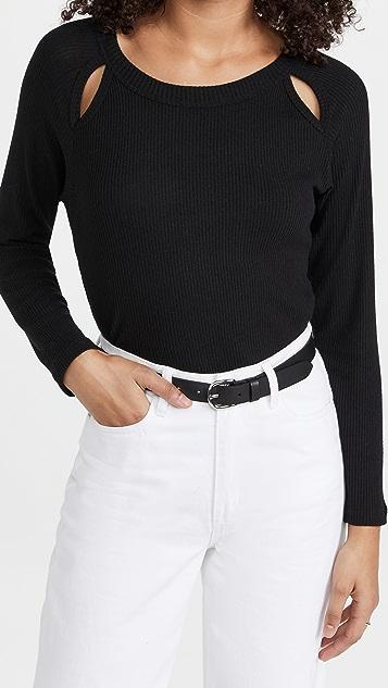LNA Mezzanine Brushed Rib Sweater