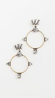 Lionette by Noa Sade Mykonos Brass Hoop Earrings