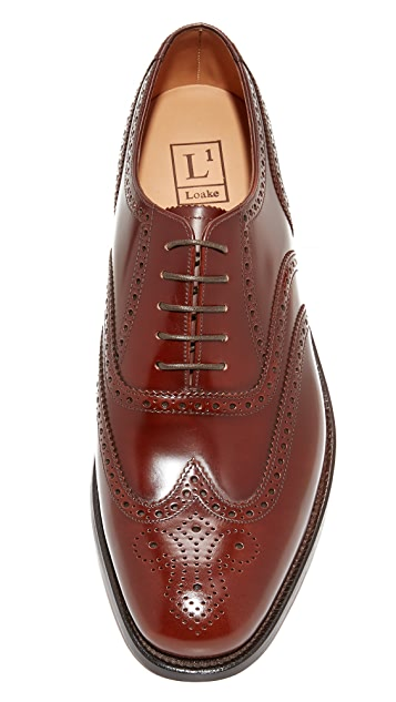 Loake L1 Polished Brogue Oxfords