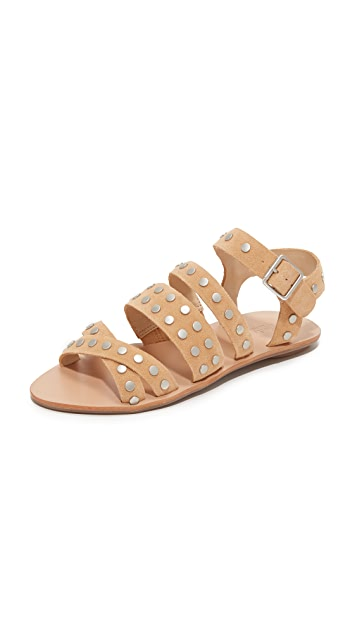 Loeffler Randall Karin Studded Flat Sandals