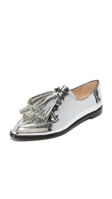 Loeffler Randall Jasper Tassel Oxfords - Silver