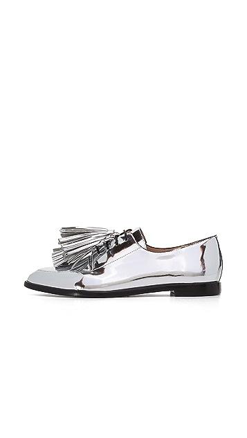 Loeffler Randall Ботинки на шнурках Jasper с кисточками