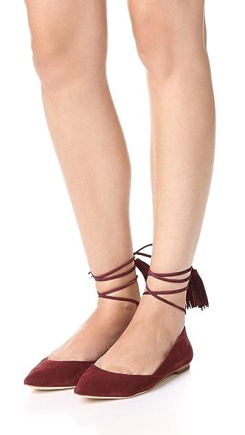 Loeffler Randall Обувь на плоской подошве Penelope с завязками на щиколотке