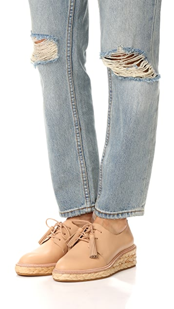 Loeffler Randall Ботинки на шнурках Callie на платформе