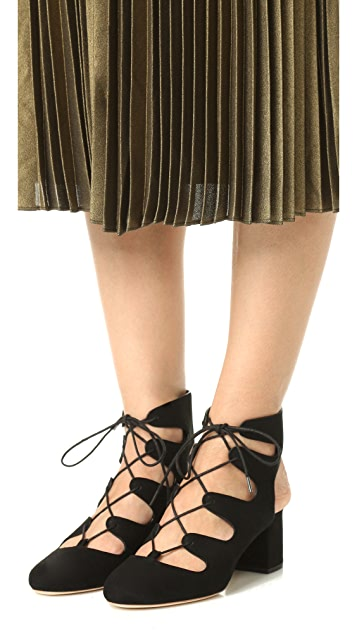 Loeffler Randall Lexi Lace Up Pumps