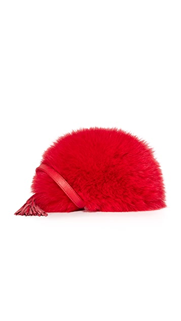 Loeffler Randall Cross Body Pouch with Fur