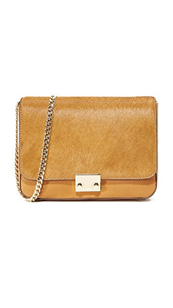 Loeffler Randall Lock Shoulder Bag - Camel/Camel