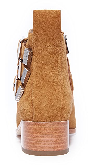 Loeffler Randall Nash Buckled Stacked Heel Booties