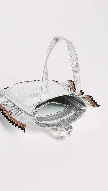 Loeffler Randall Mini Ruffle Wristlet